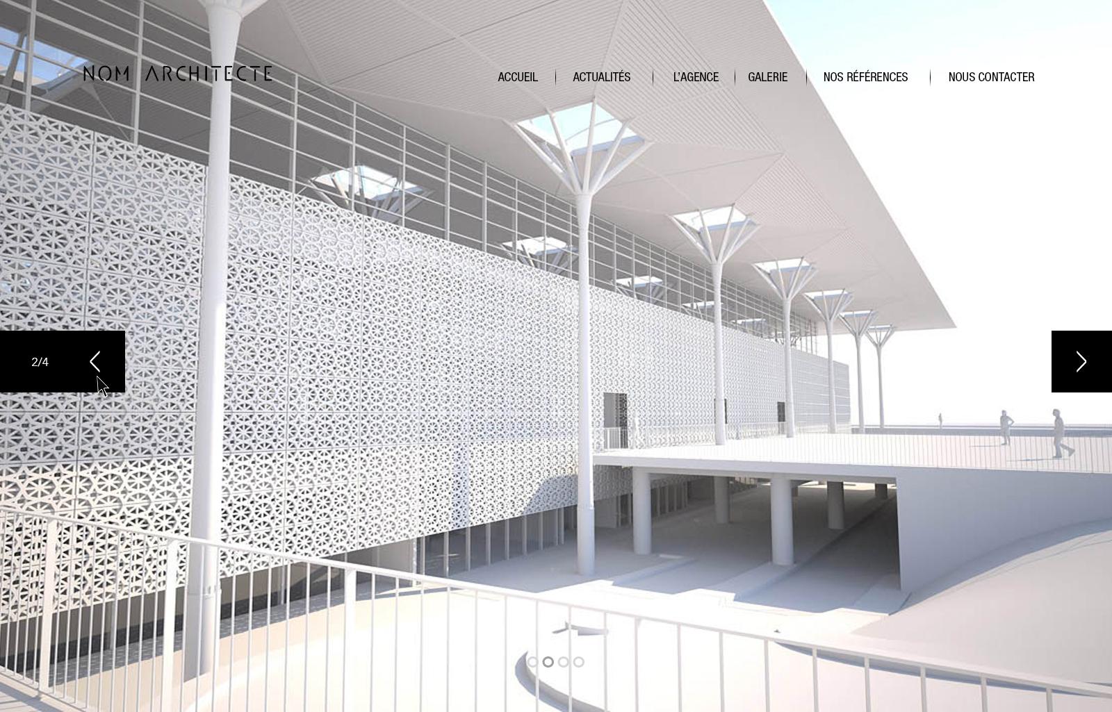 site architecte accueil