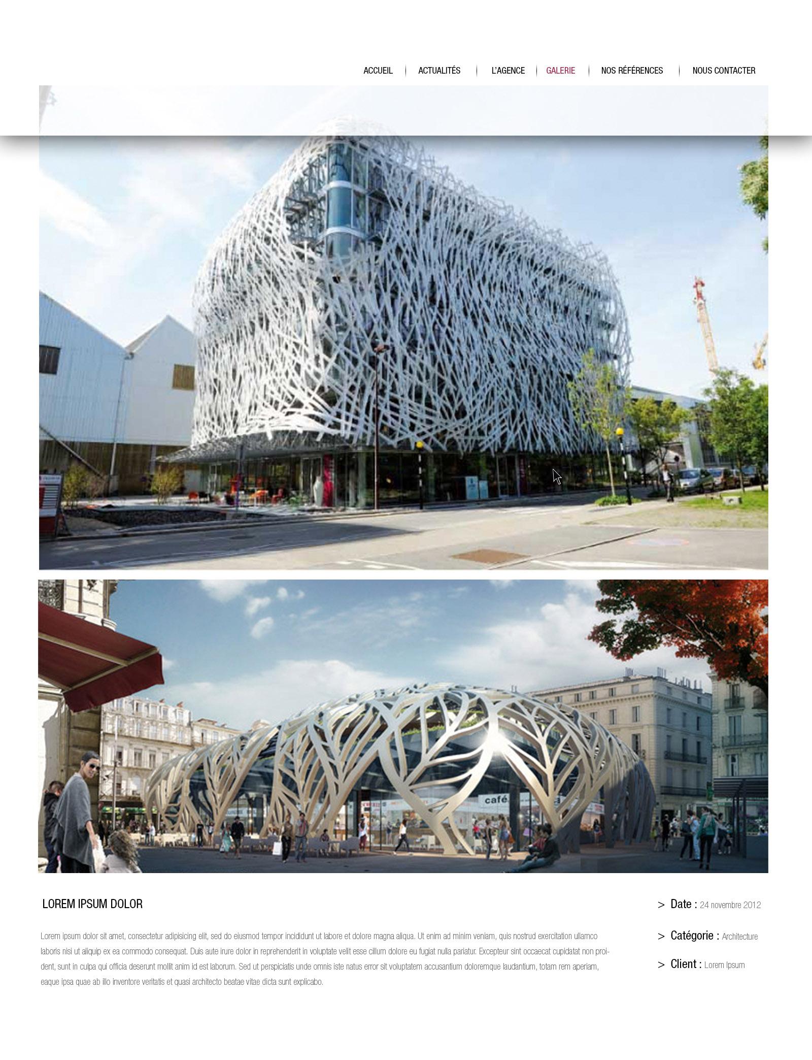 site architecte explication projet