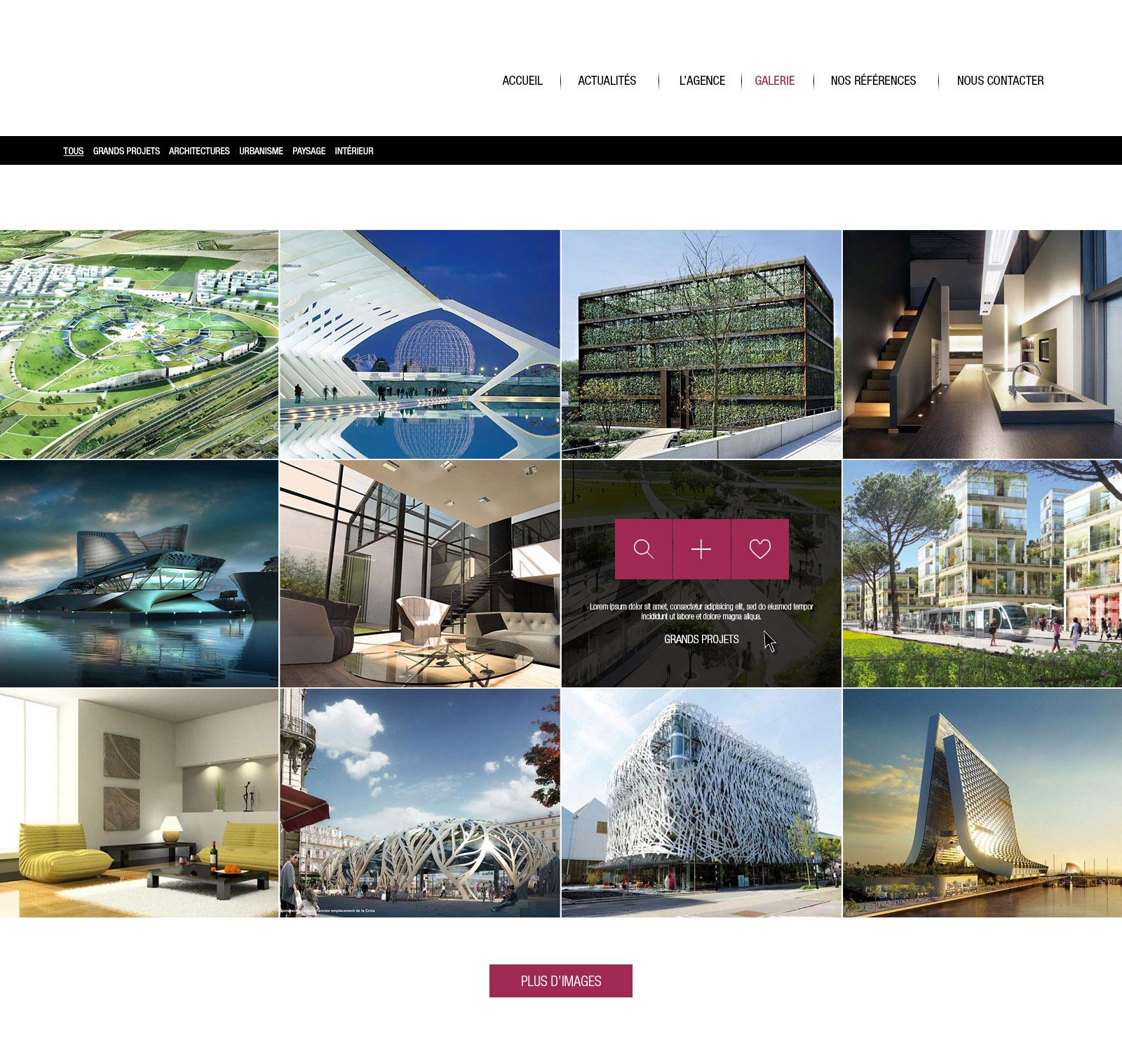 site architecte galerie projet
