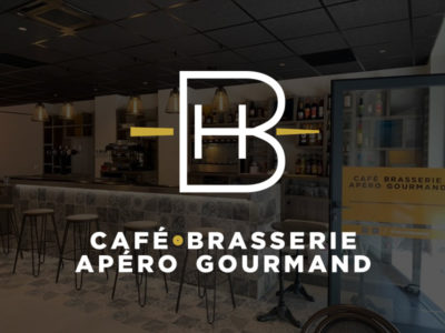 Logo mise en situ du BDH (bar du Haut), café, brasserie, restaurant situé à Rognac