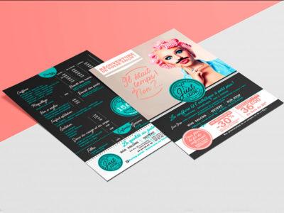 Flyer campagne de relance salons de coiffure Just Look